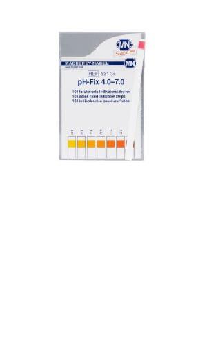 """Vyzkoušejte nový rozsah: 4,0 - 4,4 - 4,7 - 5,0 - 5,3 - 5,5 - 5,8 - 6,1 - 6,5 - 7,0 Speciální technologie """"nekrvácejících"""" proužků: Barviva vtestovacích proužcích pH-Fix, na rozdíl od běžných indikačních papírků, jsou chemicky vázána na testovací podložku. Tato patentovaná technologie bezpečně zabraňuje krvácení barviv do vzorku."""