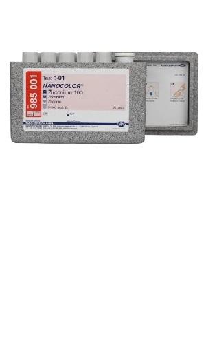 NanoColor® Zirkon 100 objednací číslo MN985001 20 stanovení rozsah měření: 5 - 100 mg / l Zr  NanoColor® Amoniak 2 000 objednací číslo MN985002 20 stanovení rozsah měření: 400 – 2 000 mg / l NH4+ / NH3, 300 - 1 600 mg / l NH4-N